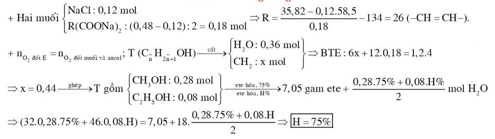 X Y Z là ba este hai chức mạch hở và không chứa nhóm chức khác Đốt cháy x gam hỗn hợp E chứa X Y Z cần dùng 12 mol O2