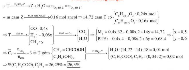 Đun nóng 1472 gam hỗn hợp T gồm axit X CnH2n2O2 và ancol Y CmH2m2O2 có mặt H2SO4 đặc làm xúc tác