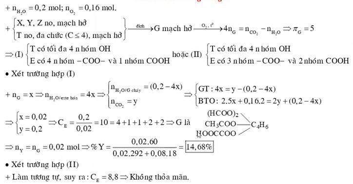 Hỗn hợp E gồm ba axit cacboxylic no, mạch hở X, Y, Z (MX < MY < MZ) và một ancol no, mạch hở, đa chức T
