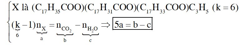 Thủy phân triglixerit X trong NaOH, thu được hỗn hợp 3 muối natri oleat; natri sterat và natri linoleat