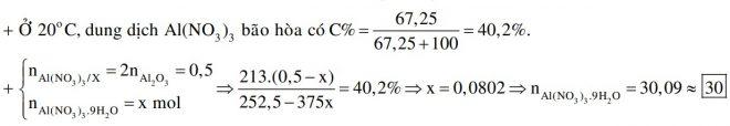 Hòa tan hoàn toàn 25,5 gam Al2O3 bằng một lượng vừa đủ dung dịch HNO3, thu được 252,5 gam dung dịch X. Làm lạnh X đến 10°C