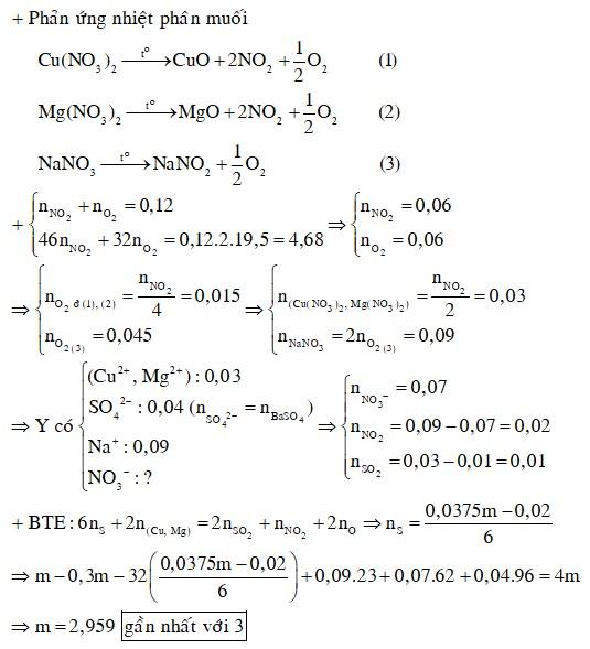 Cho m gam hỗn hợp X gồm MgO, CuO, MgS và Cu2S (oxi chiếm 30% khối lượng) tan hết trong dung dịch H2SO4 và NaNO3