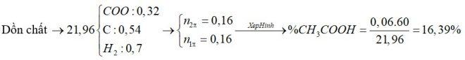 X, Y, Z là 3 axit cacboxylic đều đơn chức (trong đó X, Y kế tiếp thuộc cùng dãy đồng đẳng; Z không no chứa một liên kết C=C