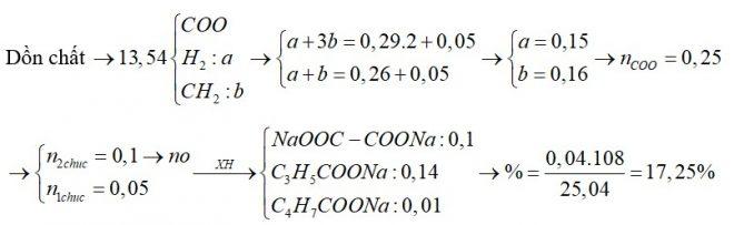 X, Y là hai hợp chất hữu cơ kế tiếp thuộc dãy đồng đẳng của axit acrylic; Z là axit hai chức, mạch hở