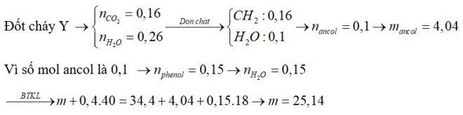 Cho m gam hỗn hợp X gồm ba este đều đơn chức tác dụng tối đa với 400ml dung dịch NaOH 1M, thu được hỗn hợp Y