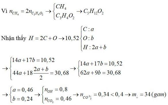 Hỗn hợp X chứa C2H4, C3H8O2, C3H4O2 và CH4 (trong đó số mol của CH4 gấp hai lần số mol của C3H4O2)