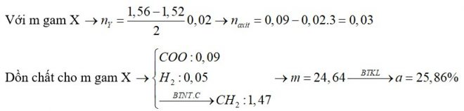 Hỗn hợp X gồm axit panmitic, axit stearic và triglixerit Y. Đốt cháy hoàn toàn m gam X thu được