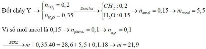Cho m gam hỗn hợp X gồm ba este đều đơn chức tác dụng tối đa với 350ml dung dịch NaOH 1M