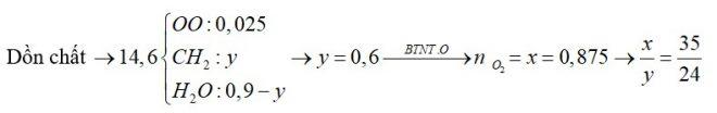 Hỗn hợp X gồm C4H8, C6H12, CH3OH, C3H7OH, C3H7COOH và CH3COOC2H5. Đốt cháy hoàn toàn 14,6 gam X
