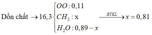 Hỗn hợp X chứa ba anken, ba axit no đơn chức, ba este no đơn chức và C3H7OH (tất cả đều mạch hở)