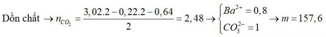 Trộn 0,22 mol hỗn hợp CH4 và C2H6O với 0,64 mol C2H4O2, C3H6O2, C4H6O2 và C5H8O3 thu được hỗn hợp A