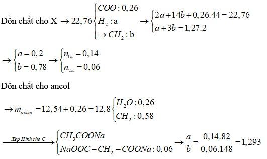 Hỗn hợp X gồm một este no, đơn chức và một este no, hai chức đều mạch hở, trong phân tử chỉ chứa một loại nhóm chức