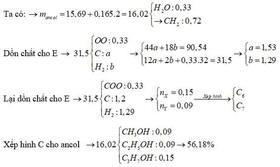 Hỗn hợp E gồm este X (CnH2n-2O2) và este Y (CmH2m-2O4) đều mạch hở, trong phân tử chỉ chứa một loại nhóm chức