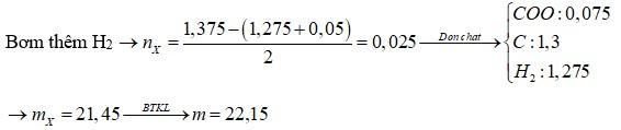 Thủy phân hoàn toàn a mol triglixerit X trong dung dịch NaOH vừa đủ, thu được glixerol và m gam hỗn hợp muối