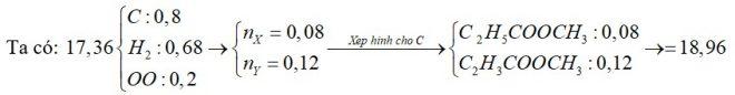X là este no, đơn chức; Y là este đơn chức, không no chứa một liên kết đôi C=C (X, Y đều mạch hở và cùng số nguyên tử C)