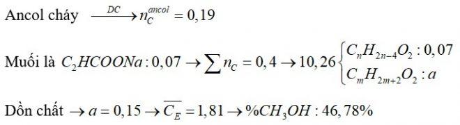 Hỗn hợp E chứa 1 axit cacboxylic X, 1 ancol no Y và 1 este Z (X, Y, Z đều đơn chức, mạch hở). Đun nóng 10,26 gam E