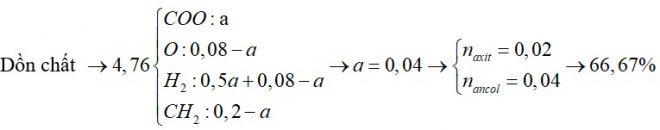 X là hỗn hợp chứa ancol no, đoan chức A và axit no, hai chức B. Đốt cháy hoàn toàn 4,76 gam X thu được