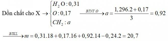 Hỗn hợp X gồm nhiều ancol no, mạch hở. Cho 0,31 mol hỗn hợp X vào bình đựng K dư thấy có 0,24 mol khí thoát ra