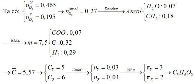 Cho hỗn hợp X gồm 2 este đơn chức, mạch hở Y, Z (biết số cacbon trong Z nhiều hơn số cacbon trong Y một nguyên tử)