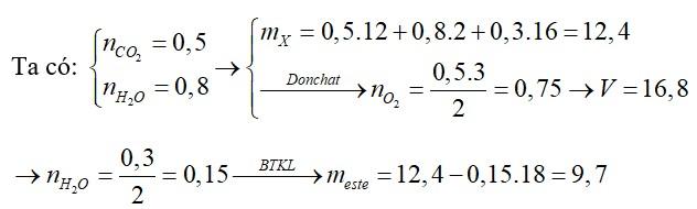 Đốt cháy hoàn toàn một lượng hỗn hợp X gồm ba ancol đơn chức cùng dãy đồng đẳng cần vừa đủ V lít O2 (đktc) thu được