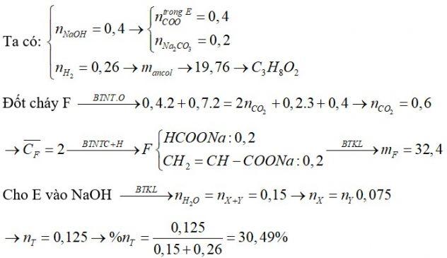 X, Y là hai hữu cơ axit mạch hở (MX<MY). Z là ancol no, T là este hai chức mạch hở không nhánh tạo bởi X, T, Z