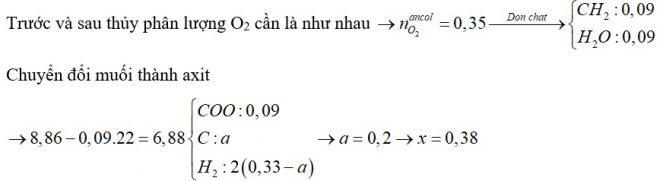 Cho hỗn hợp X gồm 3 este đơn chức, mạch hở. Đem đốt cháy m gam X thì cần vừa đủ 0,465 mol O2