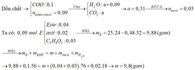 X là hỗn hợp chứa một axit đơn chức, một ancol hai chức và một este hai chức (đều mạch hở). Người ta cho X qua dung dịch nước Br2