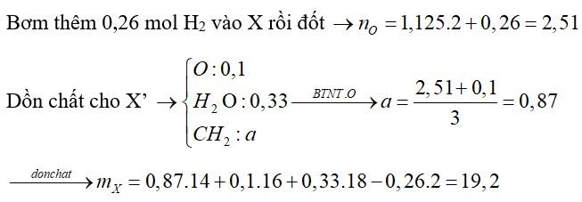 Hỗn hợp X gồm nhiều ancol đơn chức, mạch hở và etylenglicol (0,1 mol). Đốt cháy hoàn toàn m gam X cần vừa đủ 1,125 mol O2
