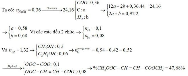 X, Y, Z là 3 este đều đơn chức, mạch hở (trong đó X, Y đều no; Z không no chứa một nối đôi C=C). Đun nóng 24,16 gam hỗn hợp E chứa