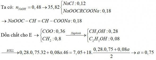 X, Y, Z là 2 este đều hai chức, mạch hở và không chứa nhóm chức khác. Đốt cháy x gam hỗn hợp E chứa X, Y, Z cần dùng 1,2 mol O2