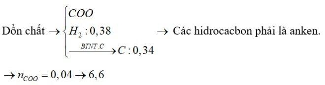 Đốt cháy hoàn toàn m gam hỗn hợp X gồm nhiều este no, đơn chức mạch hở và 3 hidrocacbon đồng đẳng liên tiếp