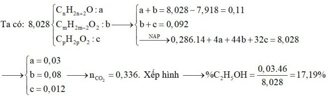 Hỗn E chứa các chất đơn chức gồm: một ancol no; một axit có một liên kết C=C trong phân tử và một este no