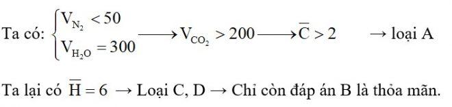 Hỗn hợp khí X gồm etylamin và hai hiđrocacbon là đồng đẳng liên tiếp. Đốt cháy hoàn toàn 100 ml hỗn hợp X bằng một lượng oxi vừa đủ