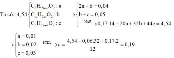 E là hỗn hợp chứa các chất hữu cơ đều mạch hở gồm: một ancol no, hai chức X, một axit no đơn chức Y và một este đơn chức có một liên kết đôi C=C