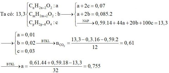 X là axit thuộc dãy đồng đẳng của axit acrylic, Y là ancol no, 2 chức mạch hở; Z là este thuần chức tạo bởi X và Y