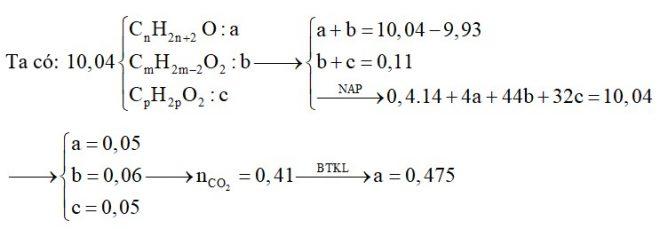 Hỗn E chứa các chất đơn chức gồm: hai ancol no, đồng đẳng liên tiếp; một axit có một liên kết C=C trong phân tử và một este no