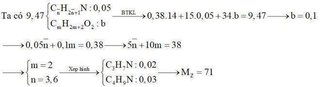 Hỗn hợp X chứa hai amin không no, đơn chức, mạch hở thuộc đồng đẳng liên tiếp có một nối đôi C=C (Y và Z trong đó MY < MZ và nY < nZ) và một ancol no