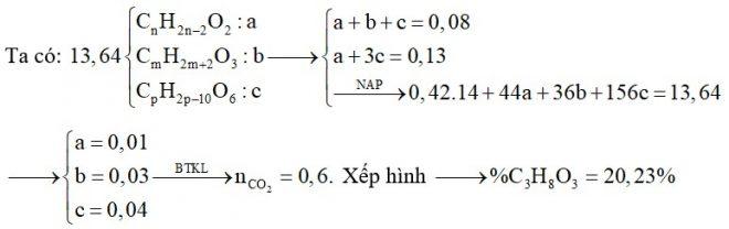 Hỗn hợp E chứa các chất mạch hở gồm một axit đơn chức X có một liên kết C=C trong phân tử, ancol no ba chức Y và este thuần chức Z