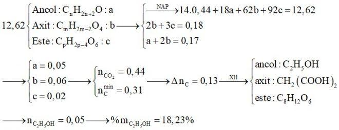 Hỗn hợp X chứa một axit thuộc dãy đồng đẳng của axit oxalic, một este no, ba chức, hở (thuần chức) được tạo bởi axit ba chức và một ancol