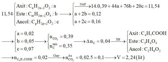 Hỗn hợp X chứa một axit thuộc dãy đồng đẳng của axit acrylic, một este no, hai chức, hở (thuần chức) và một ancol thuộc dãy đồng đẳng của etylen glicol