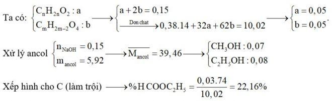 Hỗn hợp E chứa ba este X, Y, Z đều no, mạch hở trong đó (X, Y; ; đơn chức và Z hai chức thuần). Đốt cháy hoàn toàn 10,02 gam E thu được 0,38 mol CO2