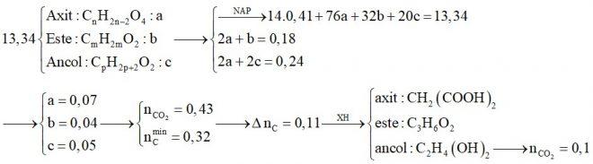 Hỗn hợp X chứa một axit thuộc dãy đồng đẳng của axit oxalic, một este no, đơn chức, hở và một ancol thuộc dãy đồng đẳng của etylen glycol
