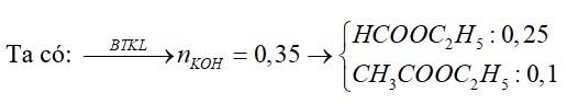 Cho 27,3 gam hỗn hợp X gồm hai este no, đơn chức tác dụng vừa đủ với dung dịch KOH, thu được 30,8 gam hỗn hợp