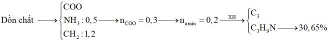 Hỗn hợp X chứa một amin no đơn chức và một aminoaxit (thuộc dãy đồng đẳng của Gly). Đốt cháy hoàn toàn 0,5 mol hỗn hợp X
