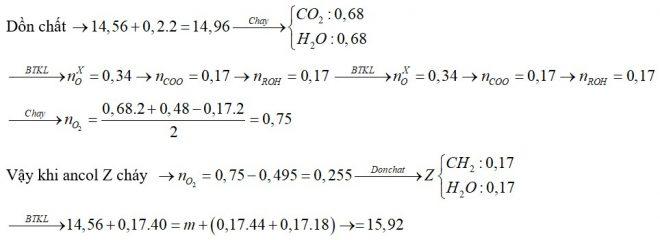 Đốt cháy hoàn toàn 14,56 gam hỗn hợp X chứa bốn este đều đơn chức, mạch hở bằng lượng oxi vừa đủ