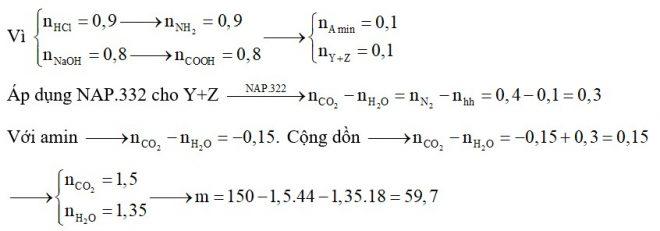 Hỗn hợp M gồm amin X, amino axit Y (X, Y đều no, mạch hở) và peptit Z (mạch hở tạo ra từ các α –amino axit no, mạch hở)