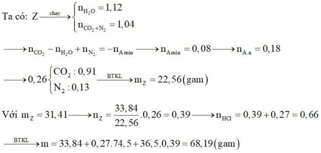 Hỗn hợp X chứa hai amin no đơn chức. Hỗn hợp Y chứa hai α-amino axit thuộc dãy đồng đẳng của glyxin