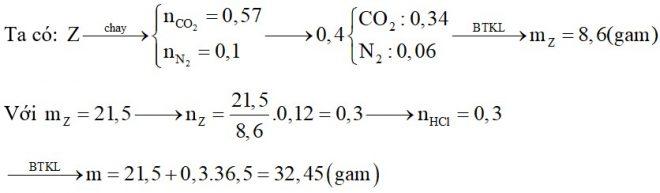 Hỗn hợp X chứa hai amin thuộc dãy đồng đẳng của metylamin. Y chứa α-amino axit thuộc dãy đồng đẳng của glyxin