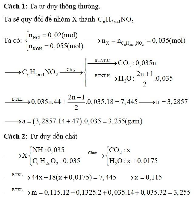 Cho a gam hỗn hợp X gồm glyxin, alanin và valin phản ứng với 200 ml dung dịch HCl 0,1M, thu được dung dịch Y