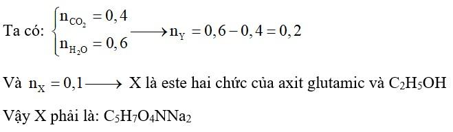 Thủy phân hoàn toàn 20,3 gam chất hữu cơ có CTPT là C9H17O4N bằng lượng vừa đủ dung dịch NaOH thu được một chất hữu cơ X và m gam ancol Y
